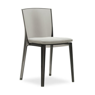 ALAIN SMOKE SIDE CHAIR WITH CUSHION, , hi-res