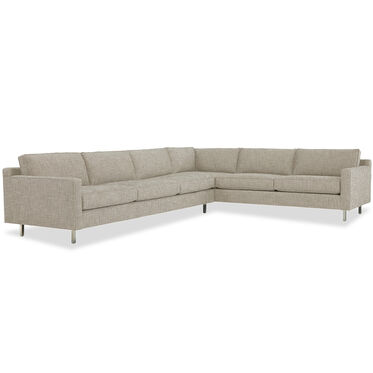 HUNTER SECTIONAL, HOLLINS - DARK TAUPE, hi-res