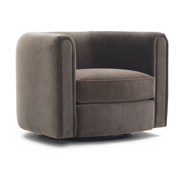 ALDEN BARREL CLUB RETURN SWIVEL CHAIR, , hi-res