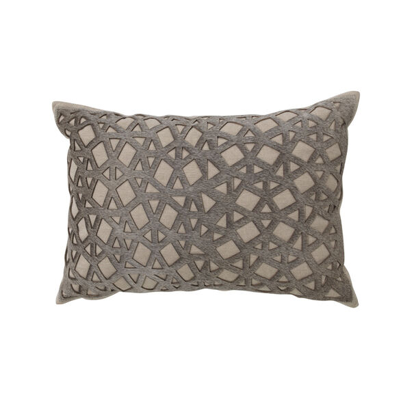 LASER CUT HAIR ON HIDE PILLOW, , hi-res