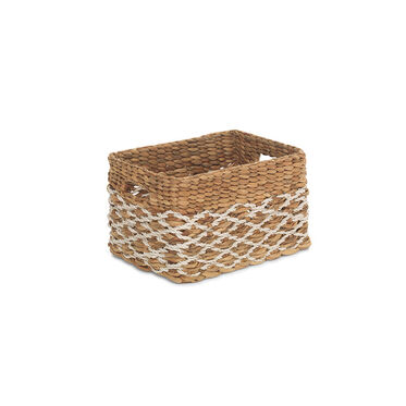 MEDIUM RECTANGULAR WOVEN BASKET, , hi-res