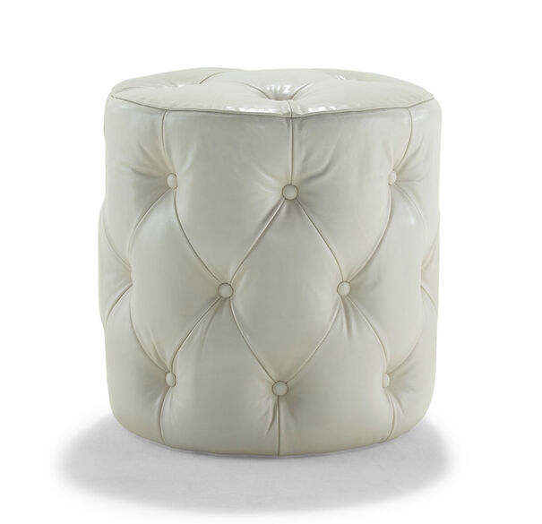 ROCCO LEATHER OTTOMAN, , hi-res