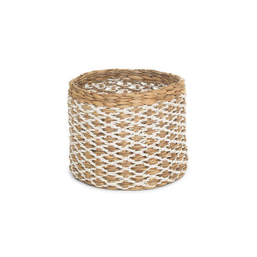MEDIUM ROUND WOVEN BASKET, , hi-res