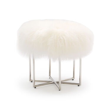 ASTRA TIBETAN WOOL PULL-UP STOOL, , hi-res