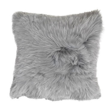 "ALPACA 20"" SQUARE SILVER PILLOW, , hi-res"