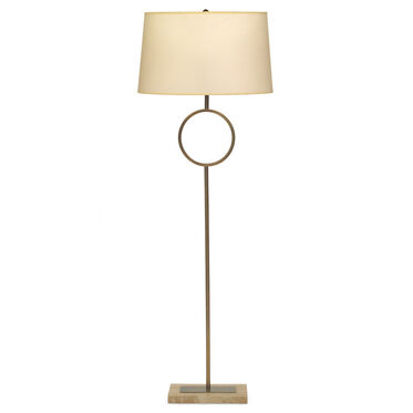 MARCO  FLOOR LAMP - AGED BRASS WITH PARCHMENT SHADE, , hi-res