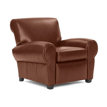 PHILIPPE LEATHER RECLINER, PENLAND - TOBACCO, hi-res