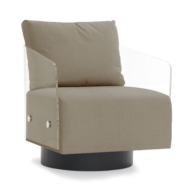 LUCY FULL SWIVEL CHAIR, THOMPSON - TAUPE, hi-res