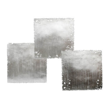SILVER LEAF SQUARE WALL ART - SET OF 3, , hi-res