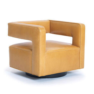 NICO LEATHER RETURN SWIVEL CHAIR, , hi-res