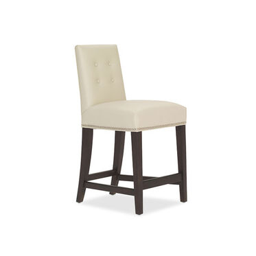 OLIVER LEATHER COUNTER STOOL, , hi-res