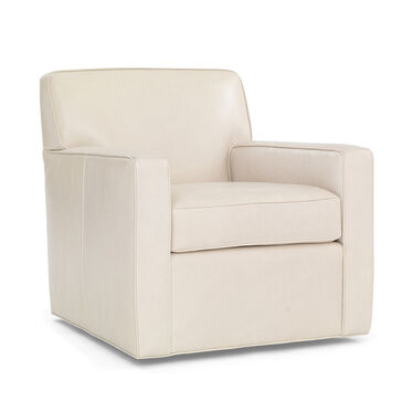 FELIX LEATHER SWIVEL CHAIR, HIGHLAND - IVORY, hi-res