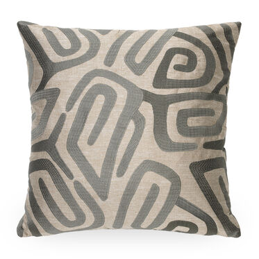 22x22 INCH PILLOW NO WELT, GIA - PEWTER, hi-res