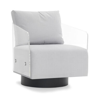 LUCY FULL SWIVEL CHAIR, THOMPSON - SILVER, hi-res