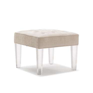 KIRA CUBE OTTOMAN, PAULSON - ECRU, hi-res
