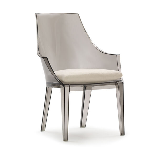 CLAIR SMOKE CHAIR WITH CUSHION, , hi-res