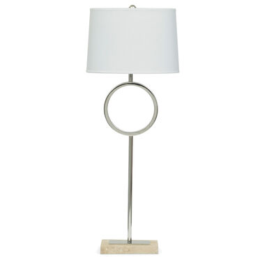MARCO BUFFET LAMP WITH WHITE SHADE, , hi-res