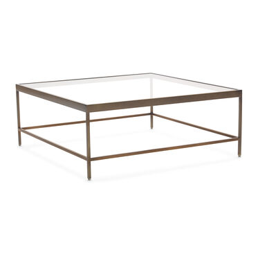 VIENNA SQUARE COCKTAIL TABLE - ANTIQUE BRASS, , hi-res