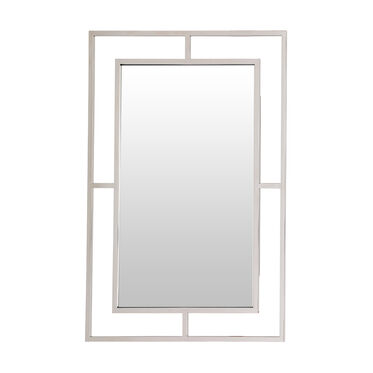 LARGE MING MIRROR - POLISHED STAINLESS STEEL, , hi-res
