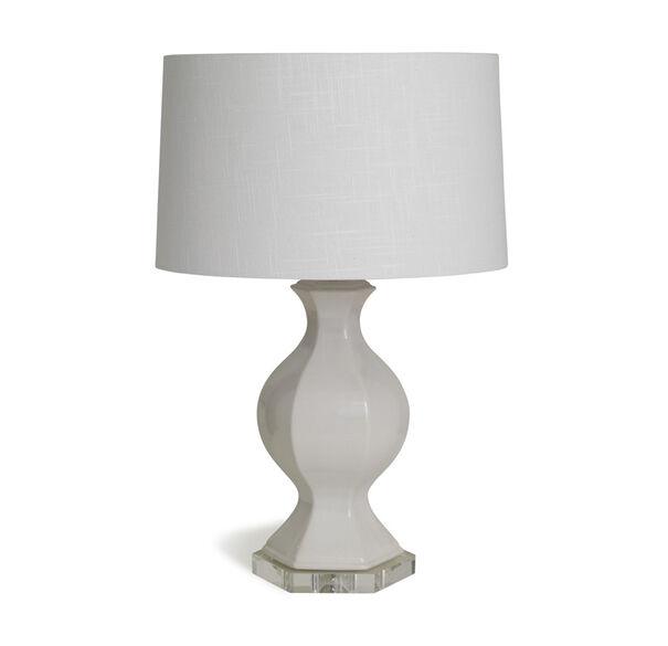 GENEVIEVE LILY WHITE TABLE LAMP, , hi-res
