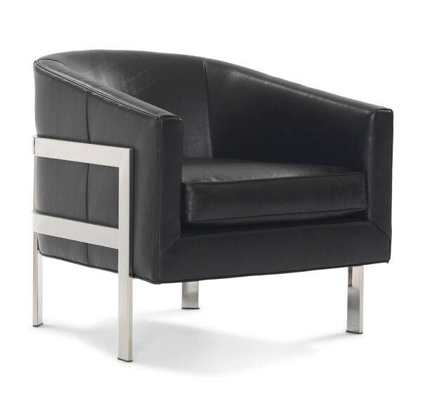 AVERY LEATHER CHAIR, ROYALE - ONYX, hi-res