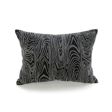 PEWTER BEADED FAUX BOIS PILLOW, , hi-res