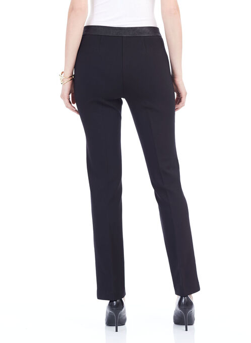 Ponte Modern Fit Straight Leg Pants, Black, hi-res
