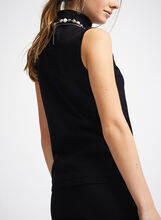 Sleeveless Knit Turtleneck, Black, hi-res