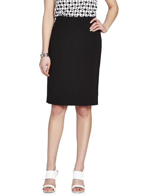Stitch Detail Pencil Skirt, Black, hi-res