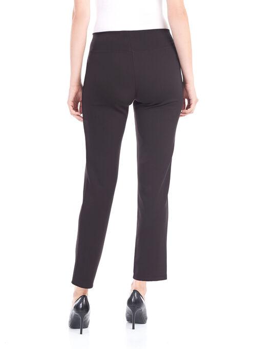 Scuba Ponte Pull-On Pants, Black, hi-res