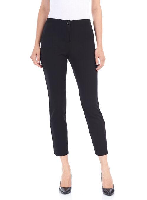 Slim Leg Comfort Waist Pants, Black, hi-res