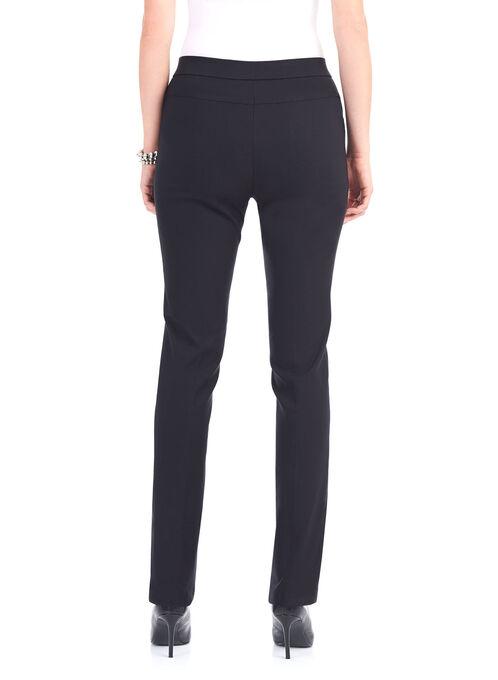 Quilt Pocket Straight Leg Pants, Black, hi-res
