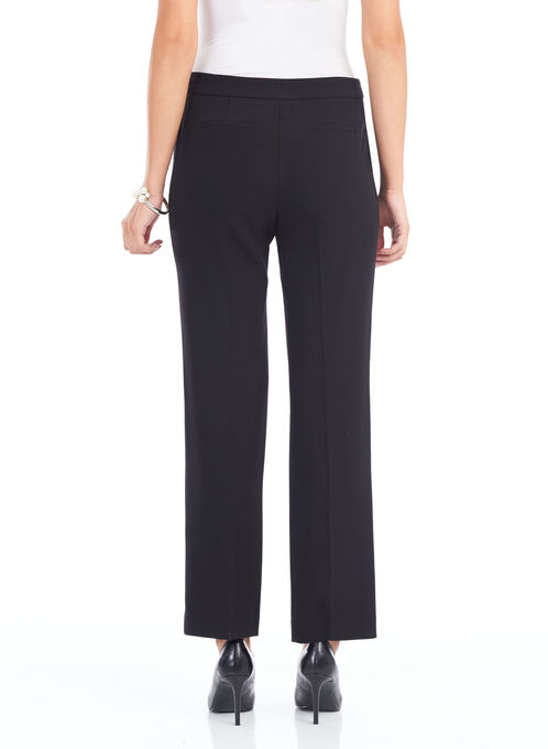 Crépe Straight Leg Pants , Black, hi-res