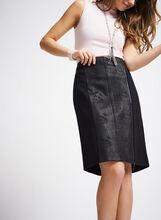 Ponte Zipper Trim Pencil Skirt , Black, hi-res