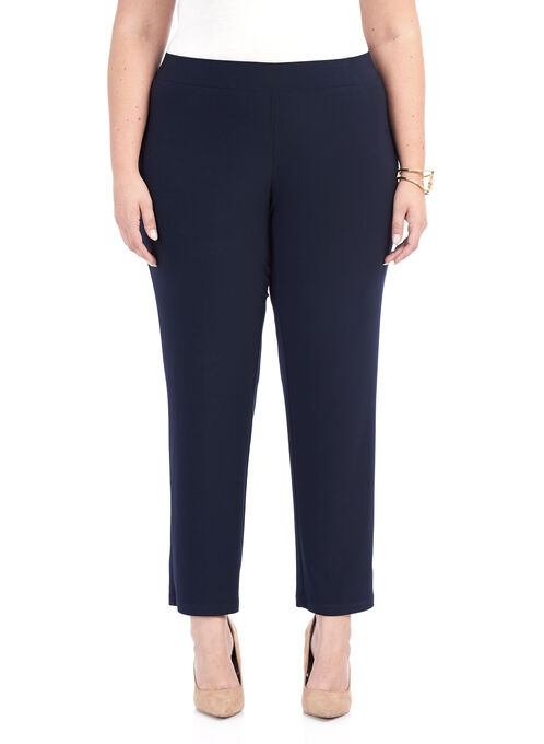 Pull-On Straight Leg Pants , Blue, hi-res