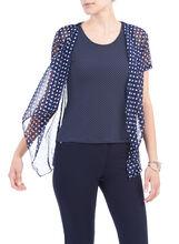Sleeveless Printed Fooler Top, Blue, hi-res