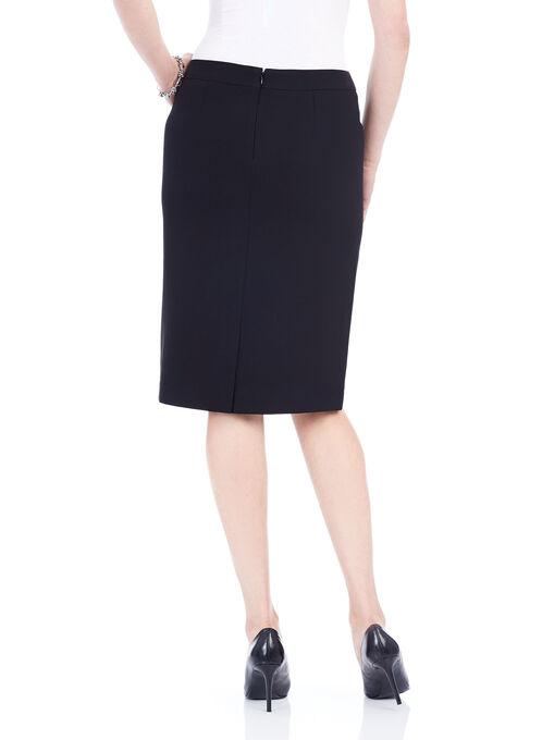 Knee-Length Pencil Skirt , Black, hi-res