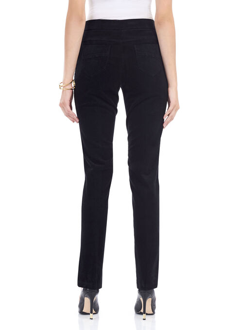 Corduroy Straight Leg Pants , Black, hi-res
