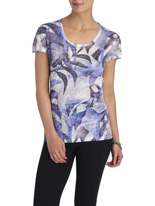 Short Sleeve Printed T-Shirt, Blue, hi-res