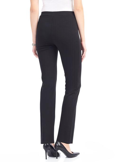 Knit Slim Leg Pant, Black, hi-res