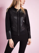 Ponte Reptile Trim Jacket , Black, hi-res