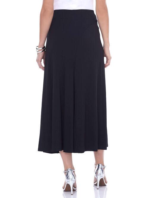 Pull-On Maxi Skirt, Black, hi-res
