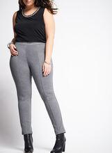 Pintucked Leggings, Grey, hi-res