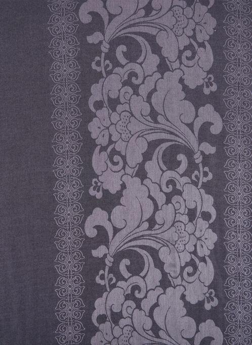 Paisley Print Pashmina Scarf, Black, hi-res