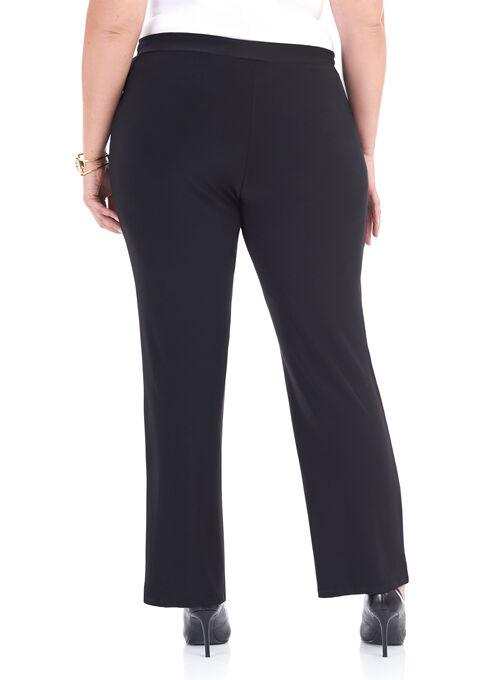 Slim Leg Drawstring Pants , Black, hi-res