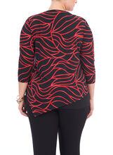 Asymmetrical Abstract Pint Top, Black, hi-res