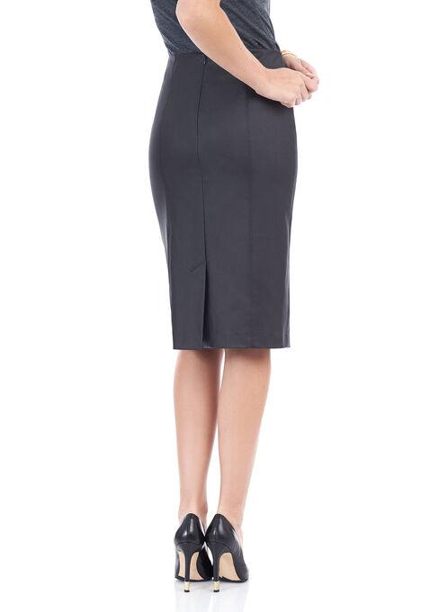 Faux Leather Pencil Skirt , Black, hi-res