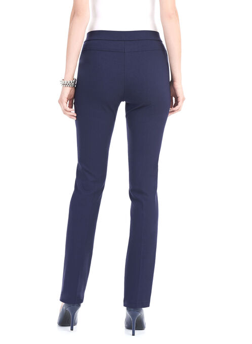 Quilt Pocket Straight Leg Pants, Blue, hi-res