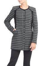 Knit Houndstooth Print Jacket, , hi-res