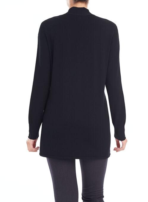 Stud Detail Knit Cardigan, Black, hi-res